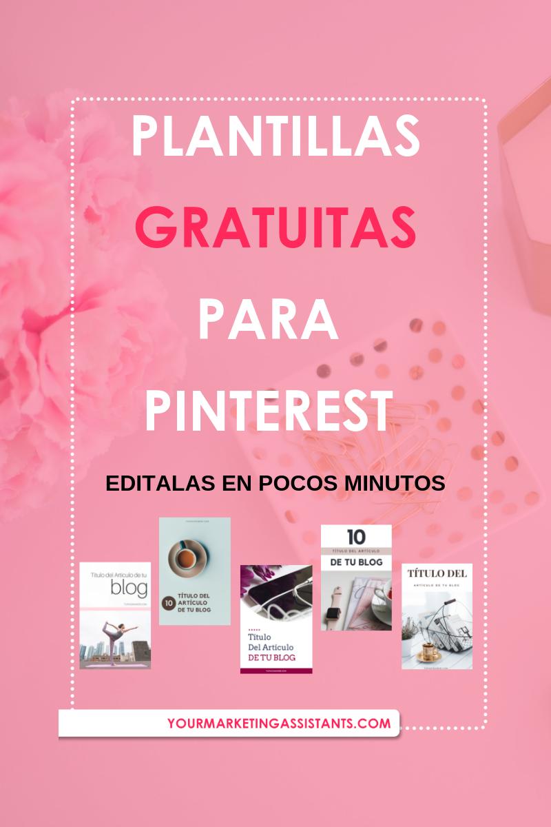 Plantillas gratuitas para Pinterest creadas en Canva. Ideal para Bloggers, Freelancers, dueños de negocios y emprendedores que quieren tener más visibilidad dentro de Pinterest y llevar tráfico a su página web #Pinterest #PinterestMarketing #Templates