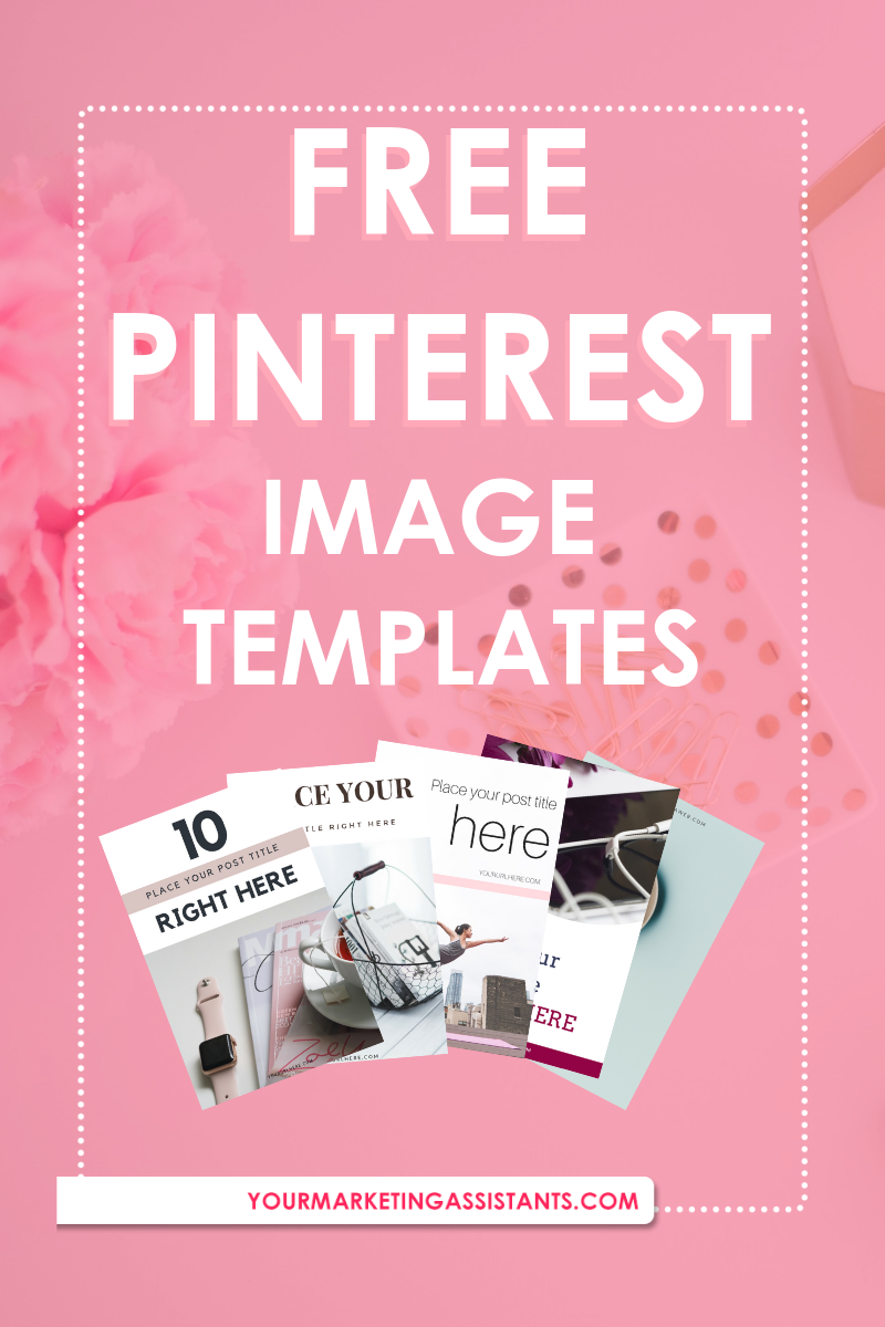 Free Pinterest Image Templates - Virtual Marketing Assistants