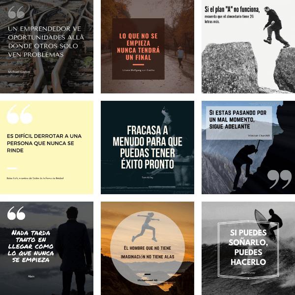 Plantillas en canva con frases inspiracionales para Instagram